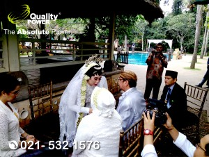 Sound System supported by Quality Power, Happy Wedding at Plataran Cilandak Jakarta, 08 April 2018.