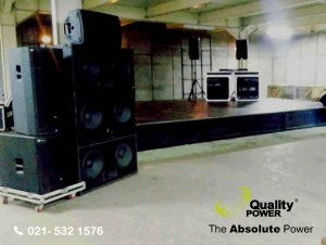 Sound System supported by Quality Power Shooting at Olympic CBD, Bogor, 23 March 2017.