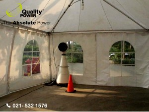 Tent & Misting Fan supported by Quality Power Passover Service at GBI Gilgal Jakarta, 14 April 2017.